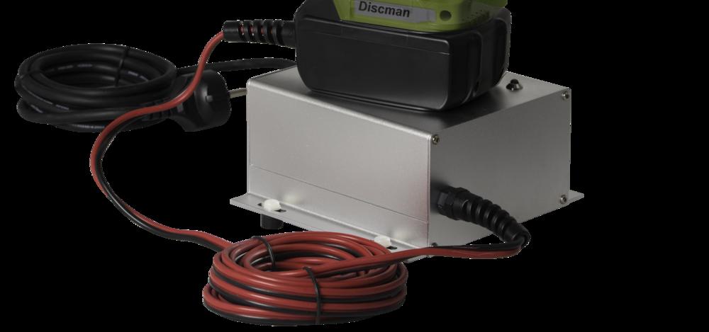 Discman 4 Trafo-Nachrüstsatz 230V/18V und Netzkabel Länge 3m