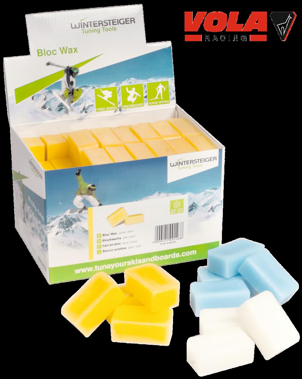 Winterst. Blockwachs gelb, 80 x 30 g = 2,4 kg