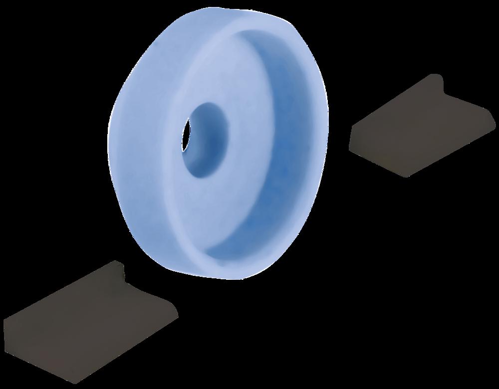 Discman Schleif-Set Ø = 35 mm, blau K150