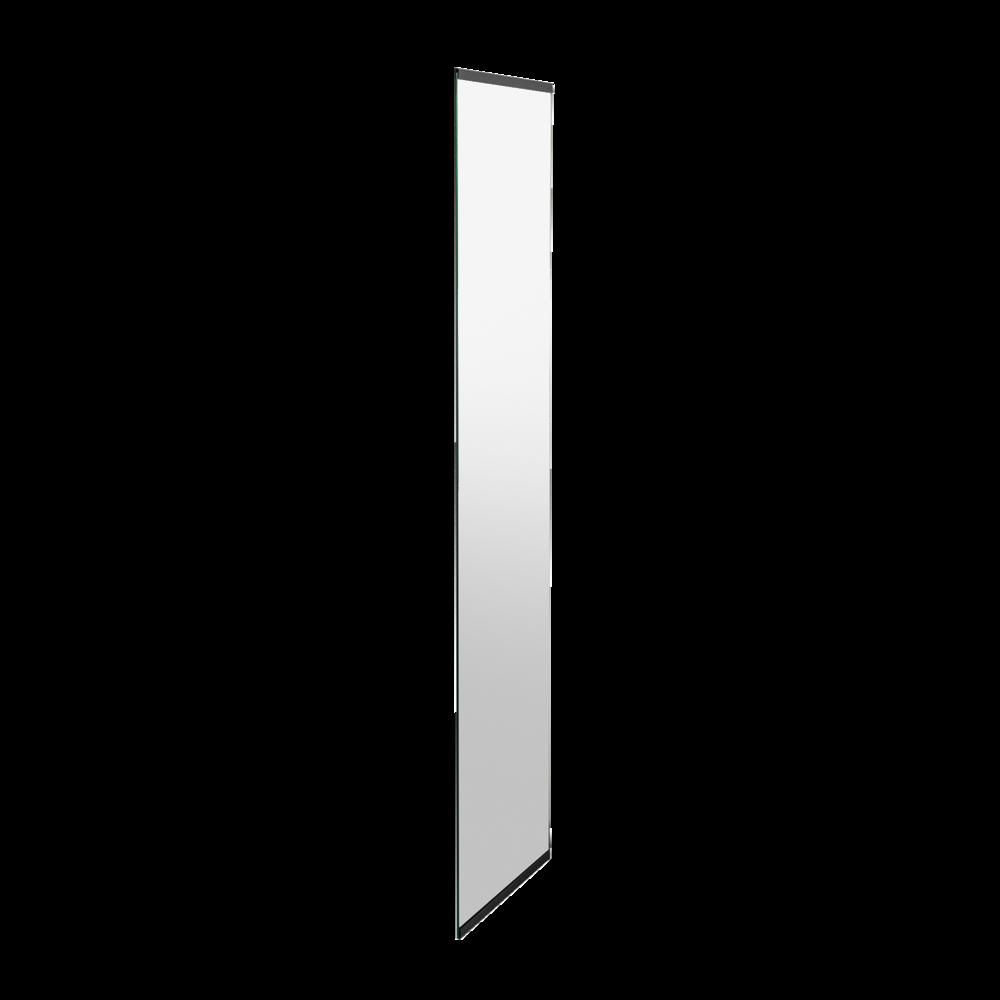 Spiegel 3 – 4 mm, Kanten gefasst, inkl. separat beigelegtem Spiegelband